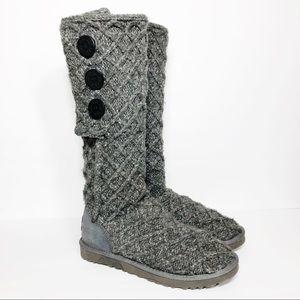 UGG 3066 Lattice Cardy Genuine Sheepskin Knit Boot